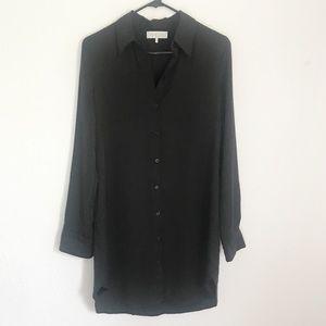 WAYF Black Button-up Dress